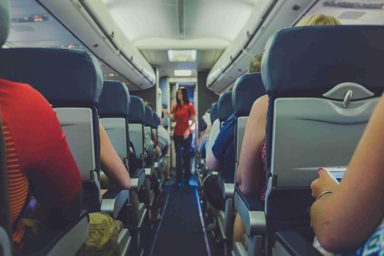 passengers on a plane - China travel